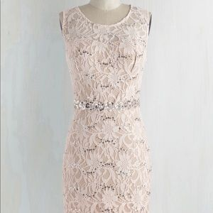 Lace and sequins cocktail dress